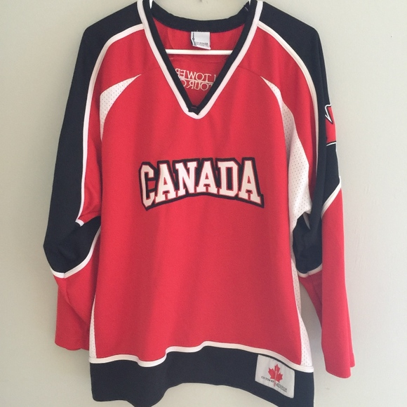 newest collection 36cf2 5998a Canada Ice Hockey CN Tower Red White Jersey Shirt